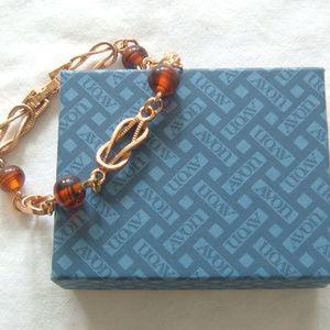 Avon Gold Tone Tortelle Chain Bracelet